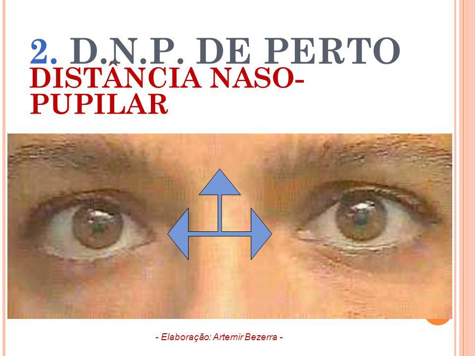 DISTÂNCIA NASO- PUPILAR 2. D.N.P. DE PERTO - Elaboração: Artemir Bezerra -