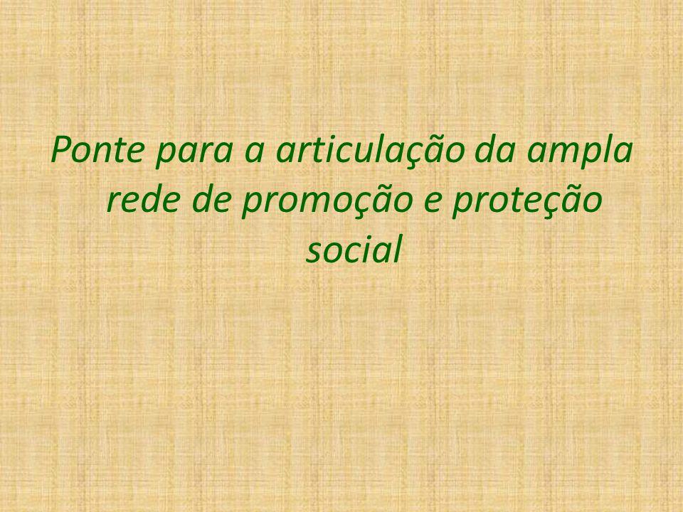 Ponte para a articulação da ampla rede de promoção e proteção social