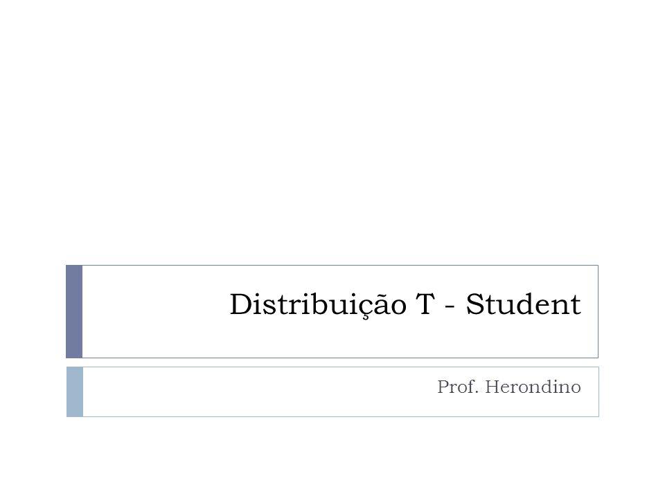 Distribuição T-Student  A distribuição T de Student é uma distribuição de probabilidade estatística, publicada por um autor que se chamou de Student, pseudônimo de William Sealy Gosset, que não podia usar seu nome verdadeiro para publicar trabalhos enquanto trabalhasse para a cervejaria Guinness.