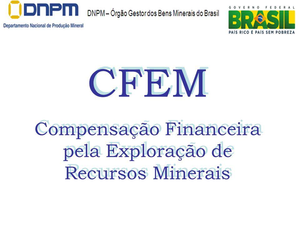 CFEM Compensação Financeira pela Exploração de Recursos Minerais CFEM Compensação Financeira pela Exploração de Recursos Minerais