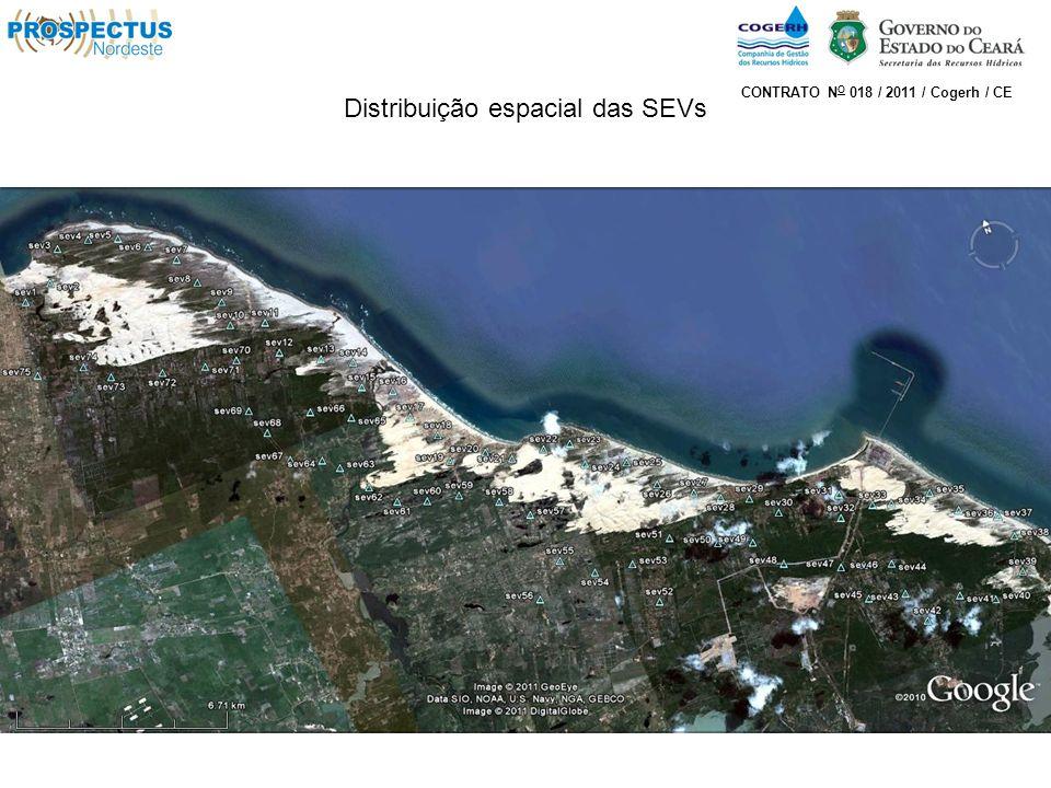 Distribuição espacial das SEVs CONTRATO N O 018 / 2011 / Cogerh / CE