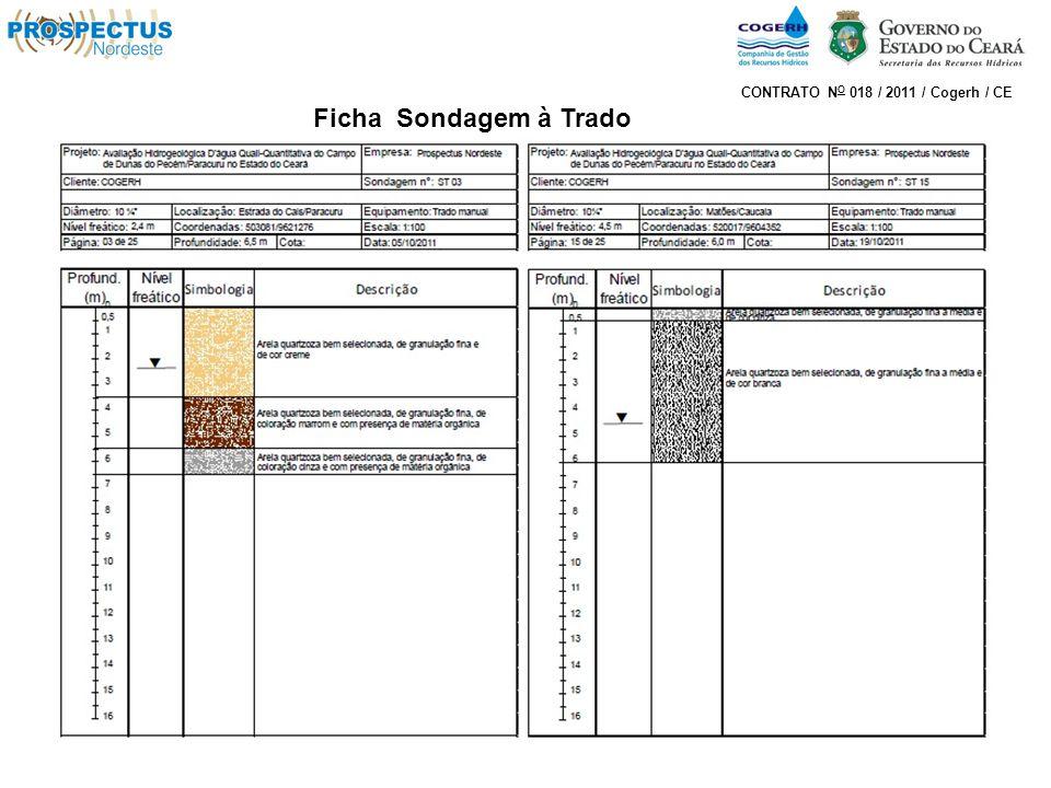 Ficha Sondagem à Trado CONTRATO N O 018 / 2011 / Cogerh / CE