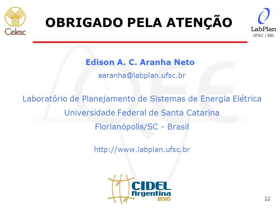 UFSC / EEL 22 OBRIGADO PELA ATENÇÃO Edison A.C.