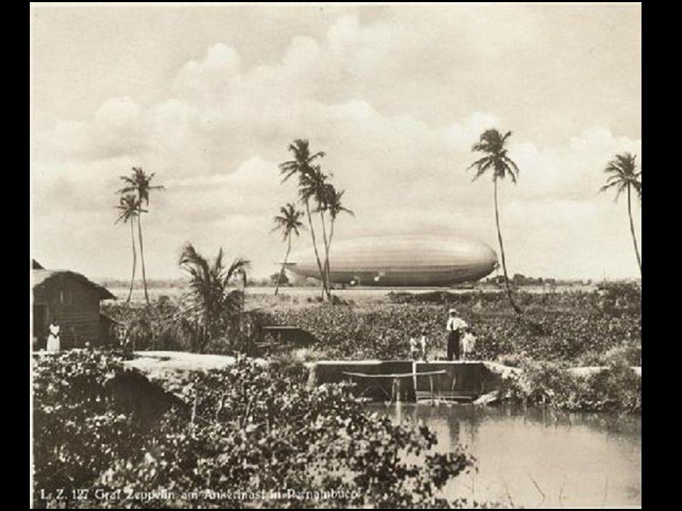 Torre de atracação de Jiquiá, em Recife O LZ-127 - Graf Zeppelin O LZ-127 - Graf Zeppelin ancorado no Campo do Jiquiá, no Recife.