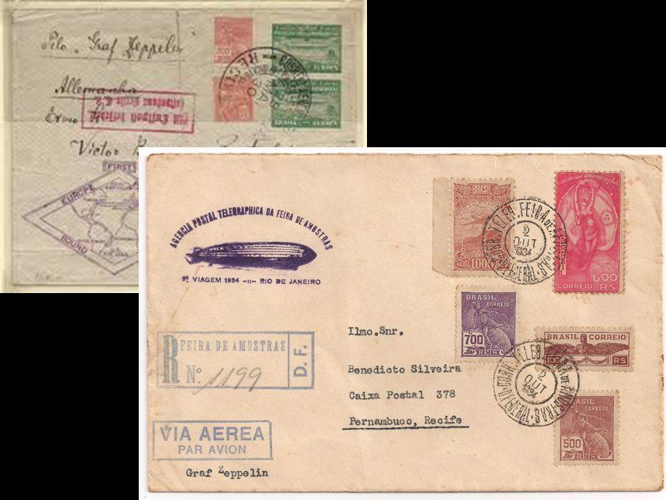 recordações O Graf Zeppelin nos correios