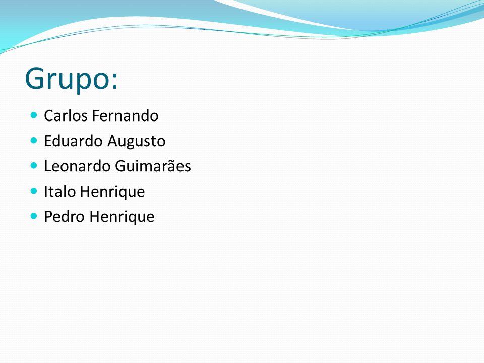 Grupo: Carlos Fernando Eduardo Augusto Leonardo Guimarães Italo Henrique Pedro Henrique