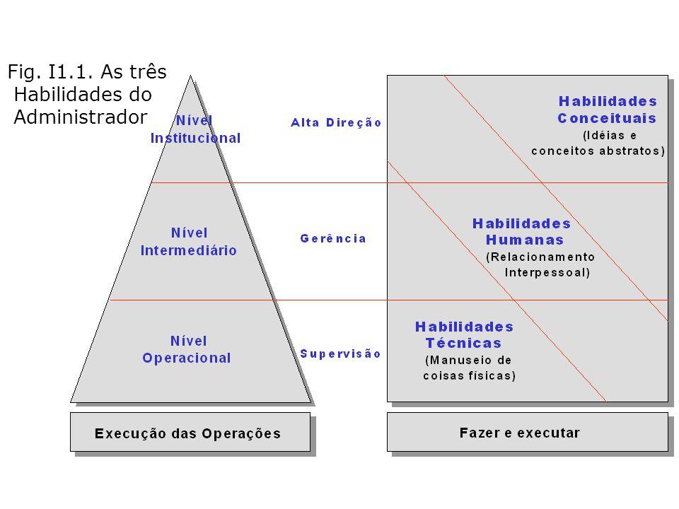 Fig. I1.1. As três Habilidades do Administrador