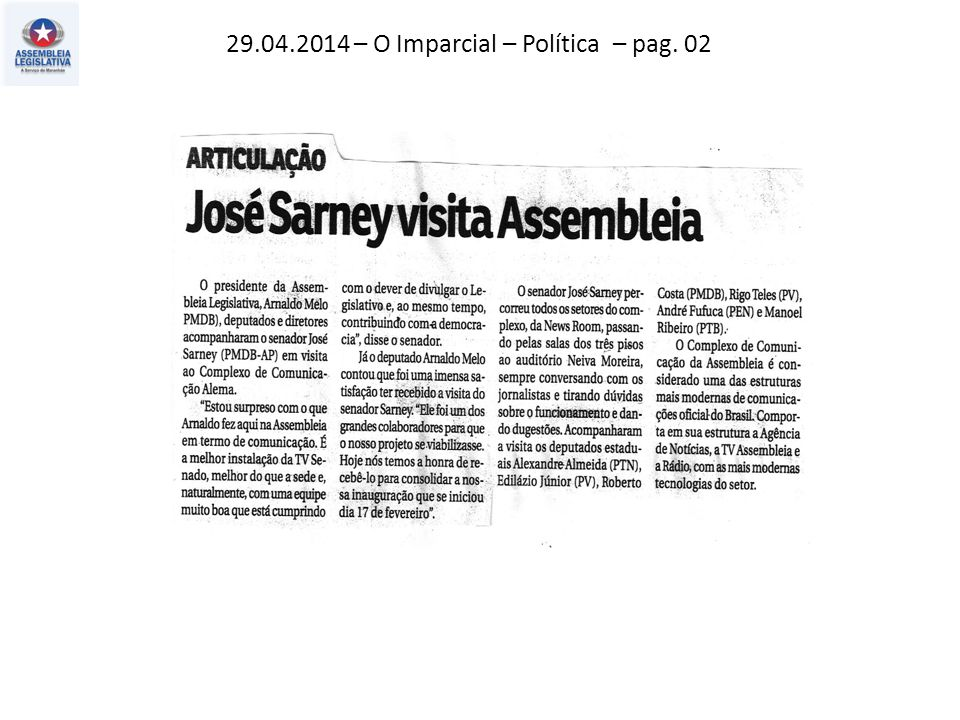 29.04.2014 – O Imparcial – Política – pag. 02