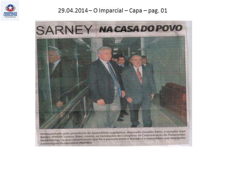 29.04.2014 – O Imparcial – Capa – pag. 01