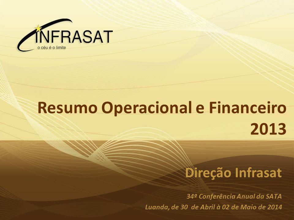 Planeamento InfraSat 2010 Grupo de Gestão Luanda, 28 de Novembro de 2009 Resumo Operacional e Financeiro 2013 Direção Infrasat 34º Conferência Anual d