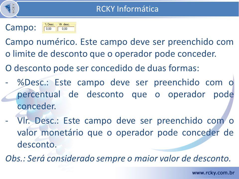 Campo: Campo numérico.