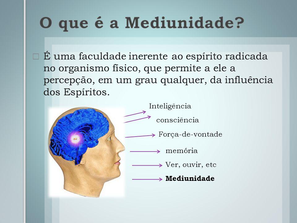 Inteligência consciência Força-de-vontade memória Ver, ouvir, etc Mediunidade
