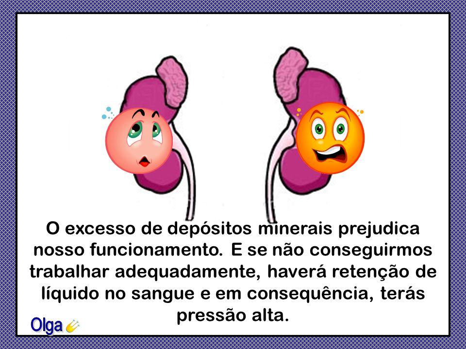 Somos nós que regulamos o nível de substâncias minerais no sangue e o equilíbrio de ácidos no corpo. Se a umidade do teu corpo for baixa, pode haver f