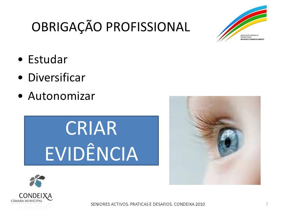 OBRIGAÇÃO PROFISSIONAL Estudar Diversificar Autonomizar 7 SENIORES ACTIVOS.