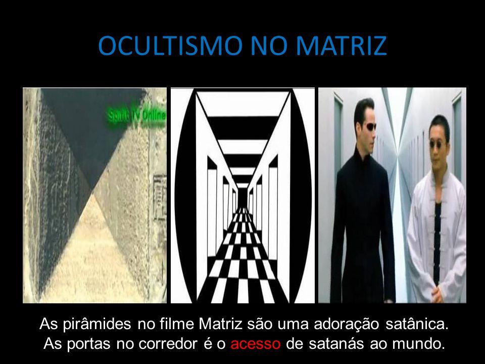 OCULTISMO NO MATRIZ As pirâmides no filme Matriz são uma adoração satânica. As portas no corredor é o acesso de satanás ao mundo.