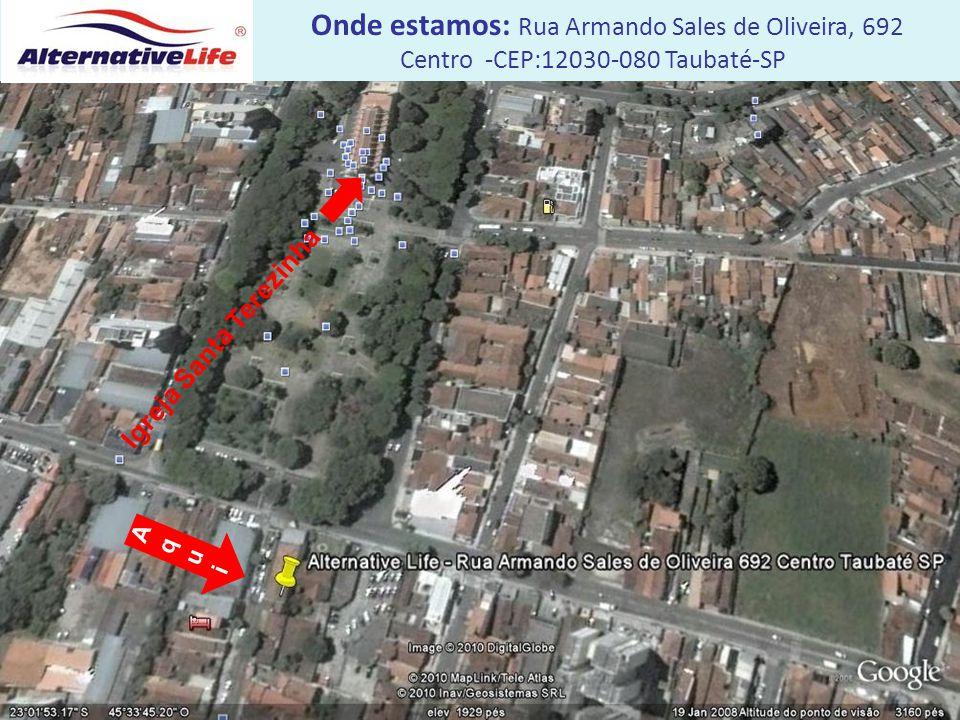 Igreja Santa Terezinha Onde estamos: Rua Armando Sales de Oliveira, 692 Centro -CEP:12030-080 Taubaté-SP AquiAqui