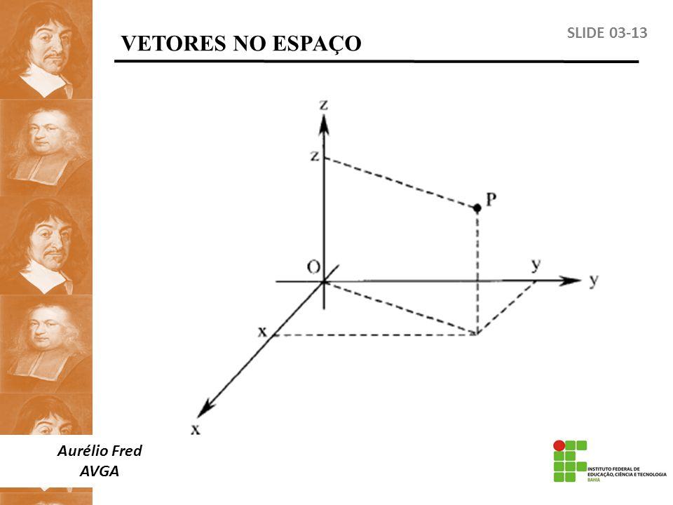 VETORES NO ESPAÇO SLIDE 03-13 Aurélio Fred AVGA