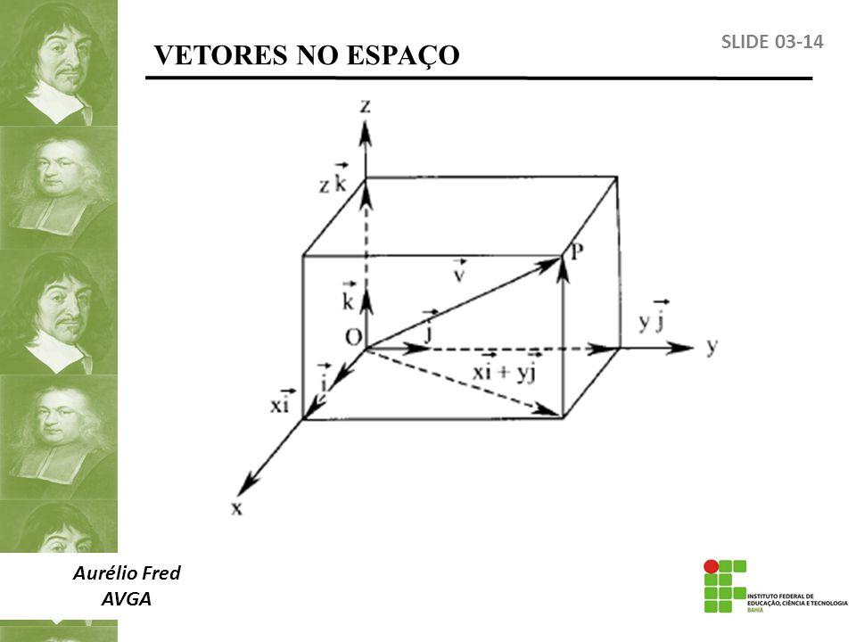 VETORES NO ESPAÇO SLIDE 03-14 Aurélio Fred AVGA