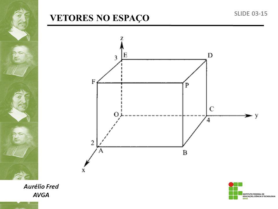 VETORES NO ESPAÇO SLIDE 03-15 Aurélio Fred AVGA