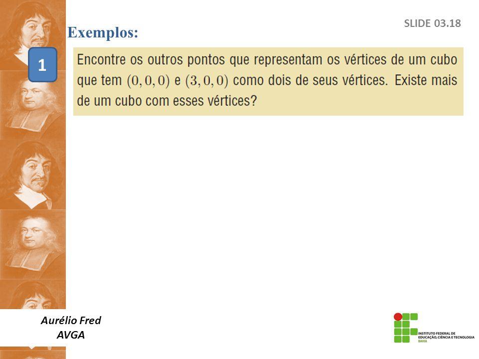 SLIDE 03.18 Exemplos: Aurélio Fred AVGA 1