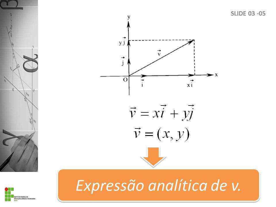 SLIDE 03 -05 Expressão analítica de v.