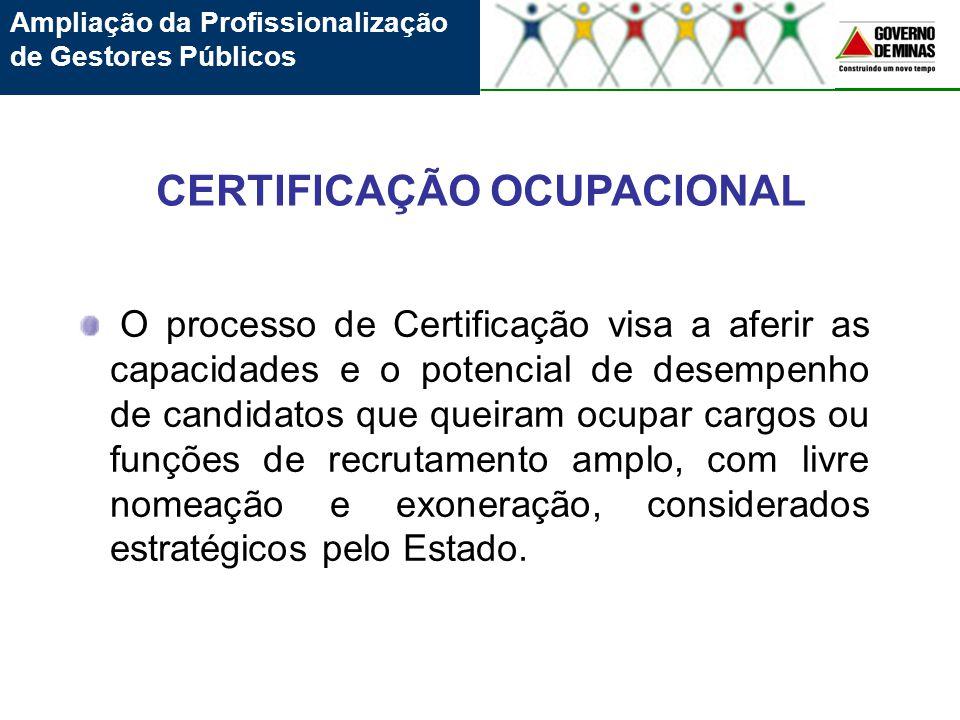 O processo de Certificação visa a aferir as capacidades e o potencial de desempenho de candidatos que queiram ocupar cargos ou funções de recrutamento
