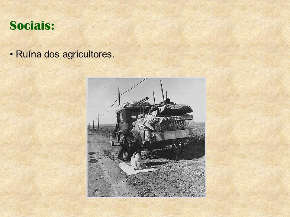 Sociais: Ruína dos agricultores.