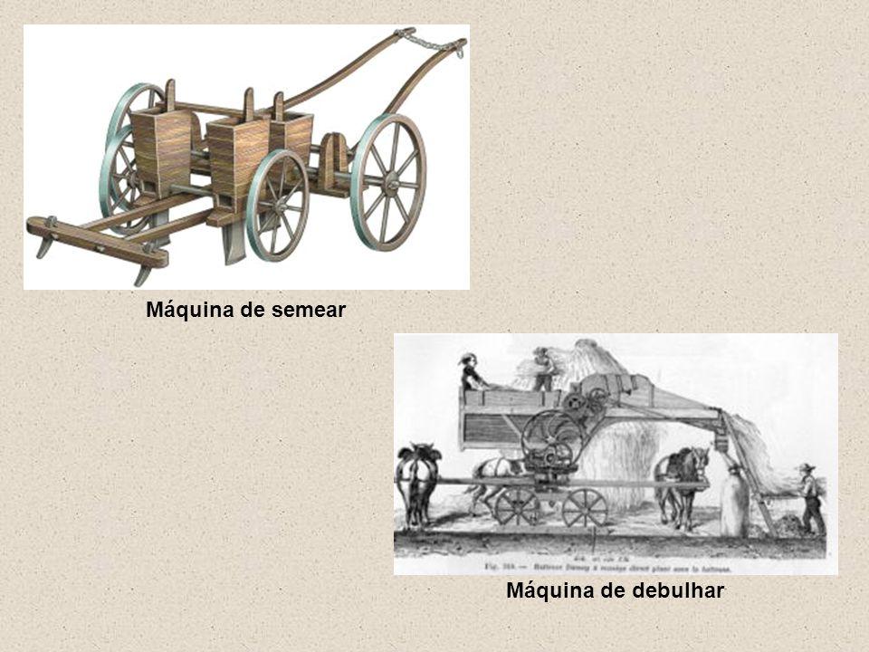 Máquina de semear Máquina de debulhar