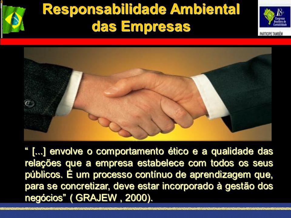 """Responsabilidade Ambiental das Empresas """" [...] envolve o comportamento ético e a qualidade das relações que a empresa estabelece com todos os seus pú"""
