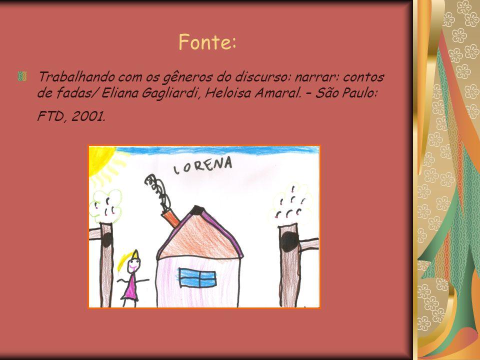 Fonte: Trabalhando com os gêneros do discurso: narrar: contos de fadas/ Eliana Gagliardi, Heloisa Amaral. – São Paulo: FTD, 2001.