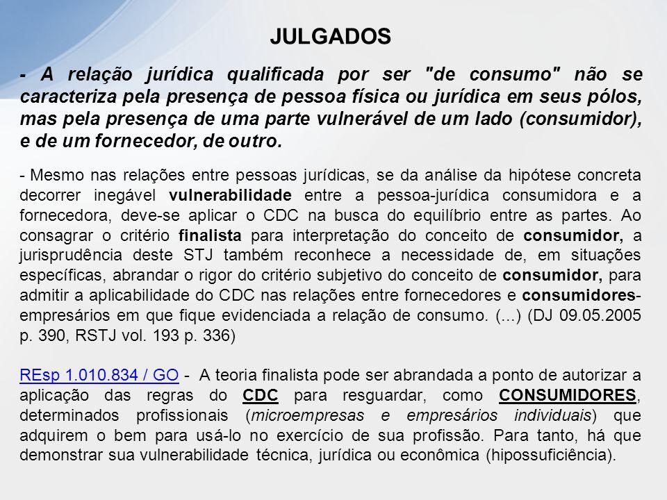JULGADOS - A relação jurídica qualificada por ser