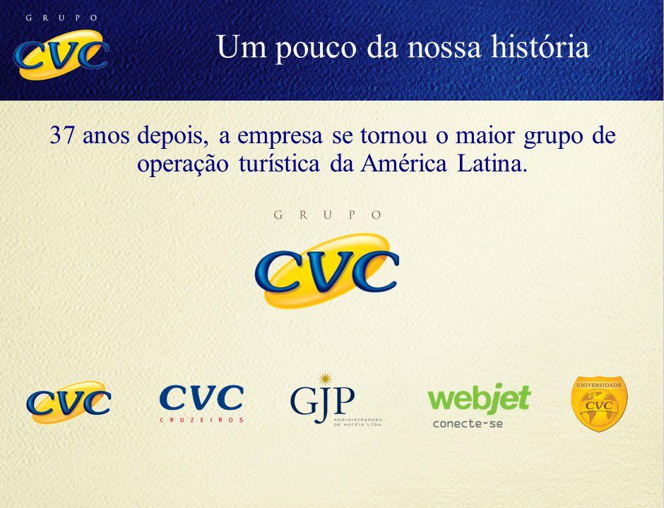 37 anos depois, a empresa se tornou o maior grupo de operação turística da América Latina. Um pouco da nossa história