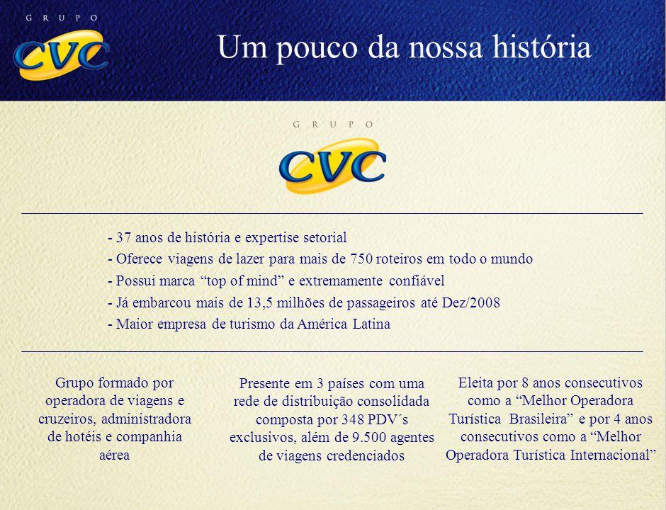 Missão CVC tornar o turismo acessível a todas as pessoas, oferecendo produtos, serviços e atendimento de qualidade a preços justos, dedicando-se diariamente a realizar o sonho de cada cliente. Um pouco da nossa história