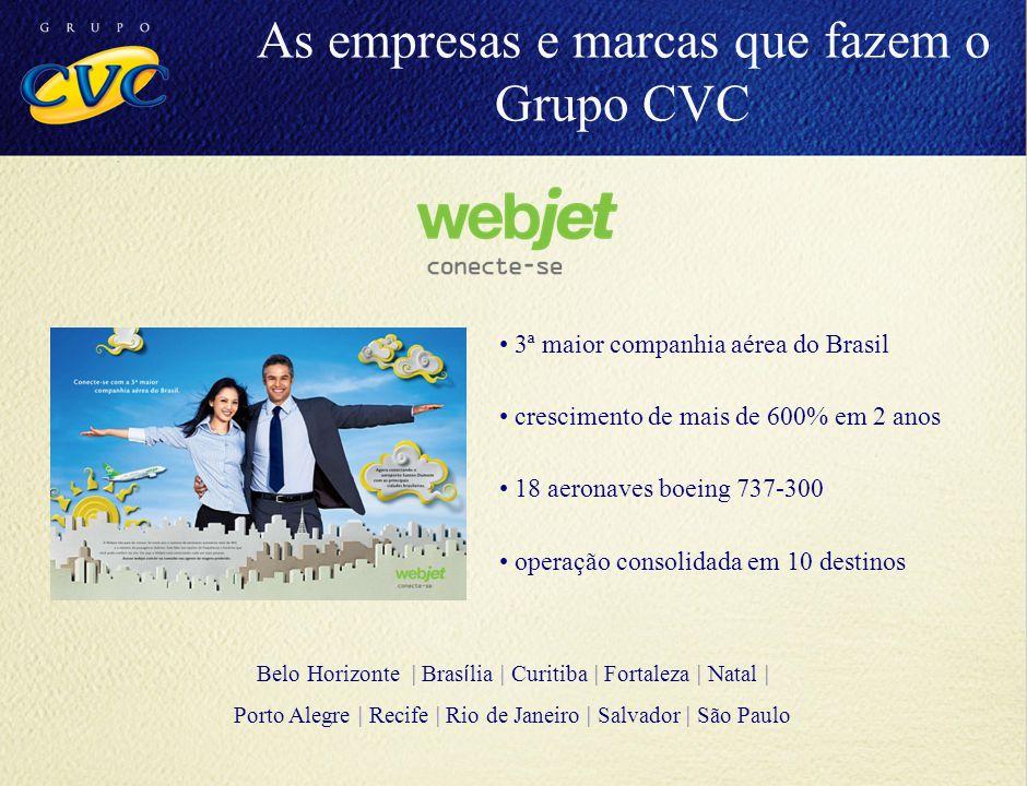 3ª maior companhia aérea do Brasil crescimento de mais de 600% em 2 anos 18 aeronaves boeing 737-300 operação consolidada em 10 destinos Belo Horizont