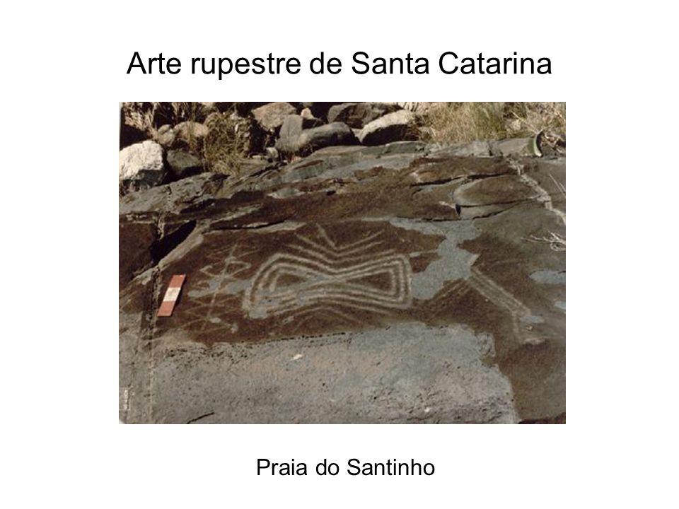 Arte rupestre de Santa Catarina Praia do Santinho