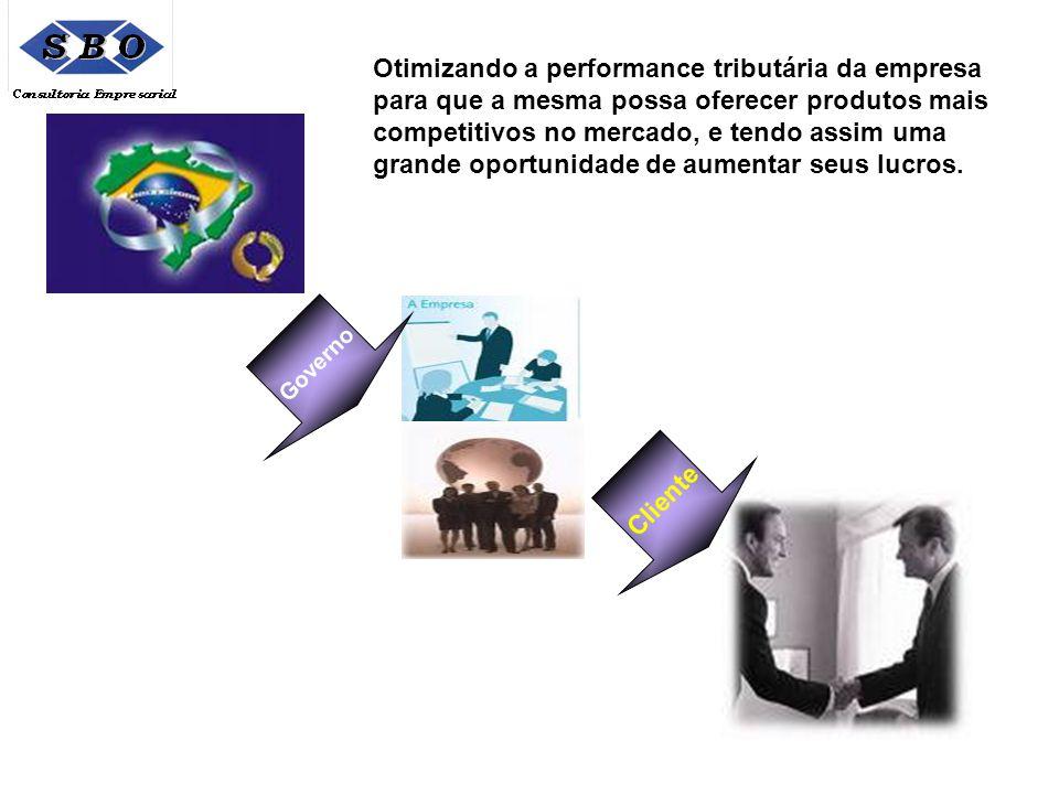 Governo Cliente Otimizando a performance tributária da empresa para que a mesma possa oferecer produtos mais competitivos no mercado, e tendo assim um