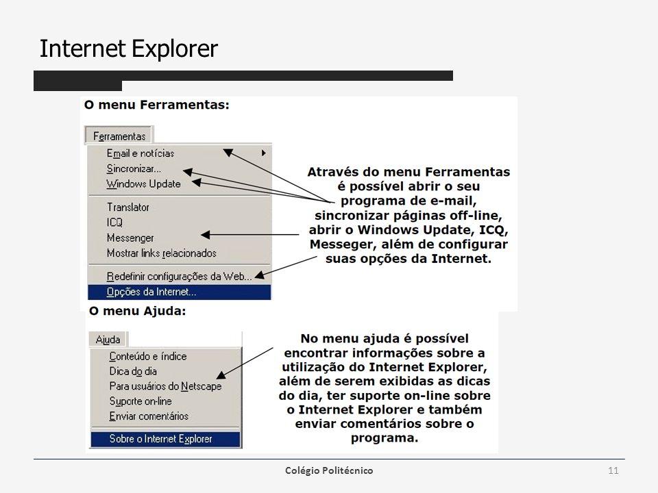 Internet Explorer Colégio Politécnico11