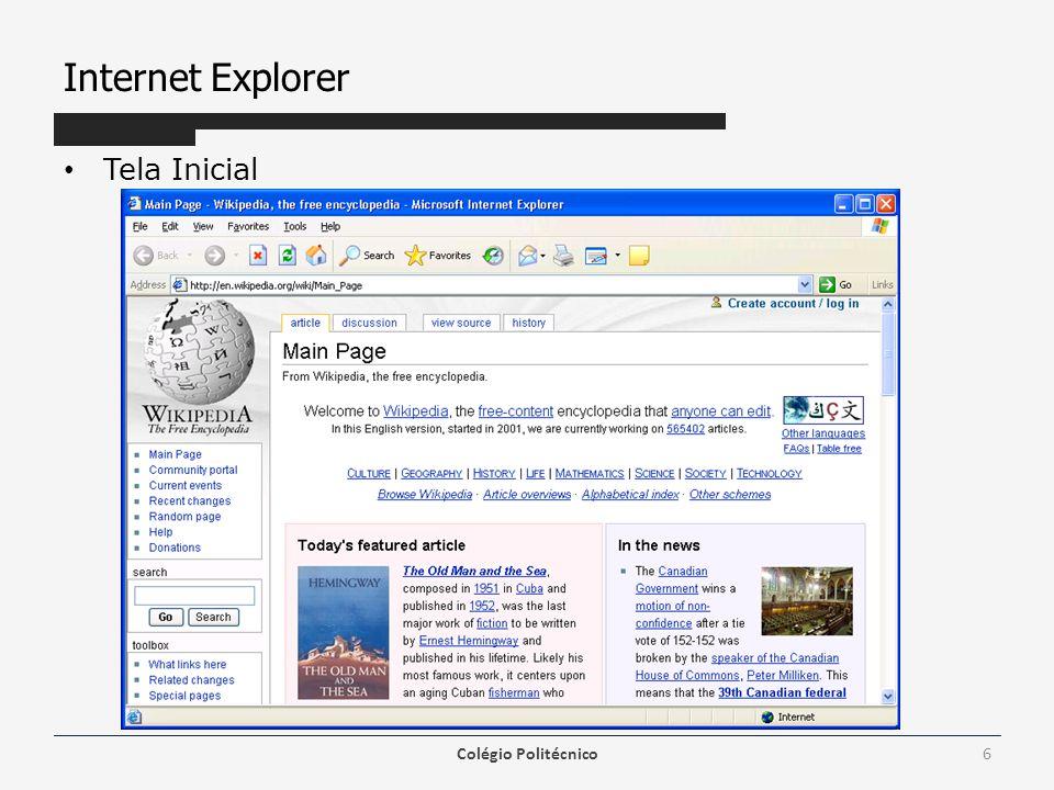 Internet Explorer Colégio Politécnico7