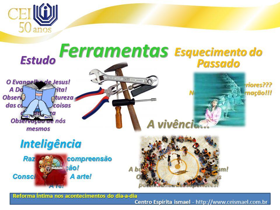 Reforma Íntima nos acontecimentos do dia-a-dia Centro Espírita ismael Centro Espírita ismael - http://www.ceismael.com.br Ferramentas Esquecimento do