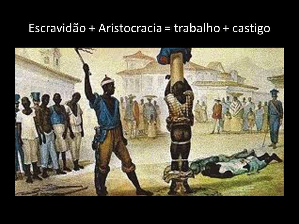 Escravidão + Aristocracia = trabalho + castigo