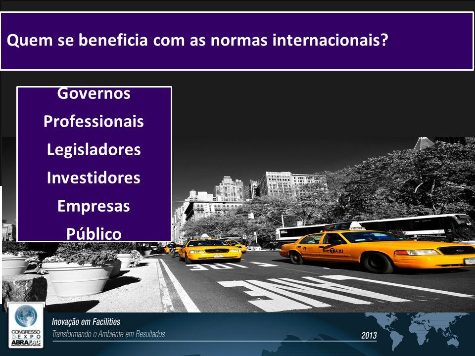 Quem se beneficia com as normas internacionais.