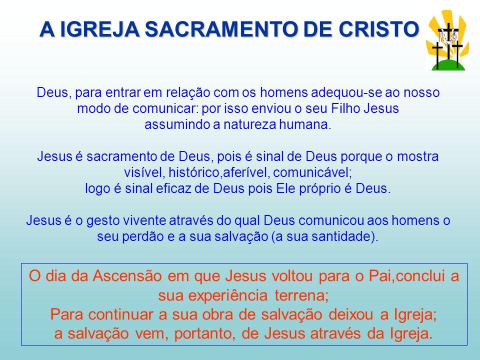Deus, para entrar em relação com os homens adequou-se ao nosso modo de comunicar: por isso enviou o seu Filho Jesus assumindo a natureza humana.