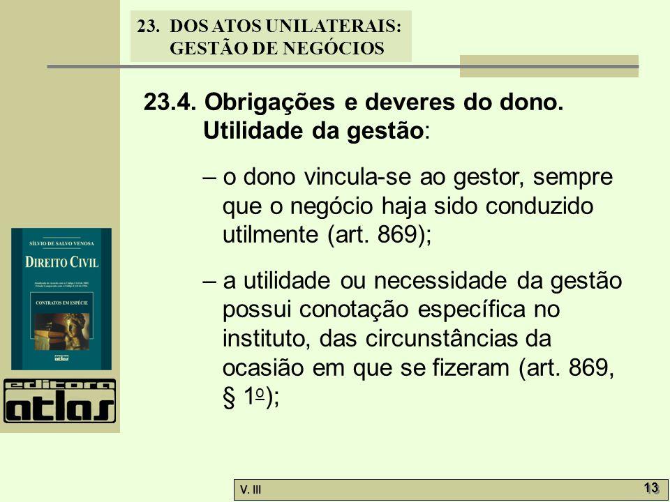 23.DOS ATOS UNILATERAIS: GESTÃO DE NEGÓCIOS V.III 13 23.4.