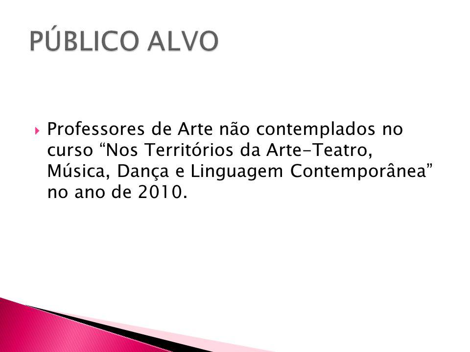 """ Professores de Arte não contemplados no curso """"Nos Territórios da Arte-Teatro, Música, Dança e Linguagem Contemporânea"""" no ano de 2010."""
