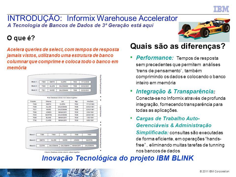 © 2011 IBM Corporation A tendência no 'data warehousing' está direcionada para 'Analítico' diz a equipe do MIT Sloan