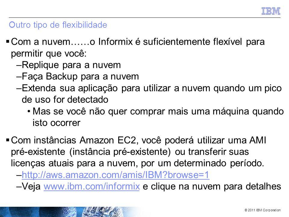 © 2011 IBM Corporation Benchmark do caso de uso