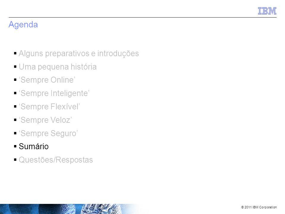 © 2011 IBM Corporation 'Sempre seguro' – uma rápida revisão  Seus dados estão seguros .