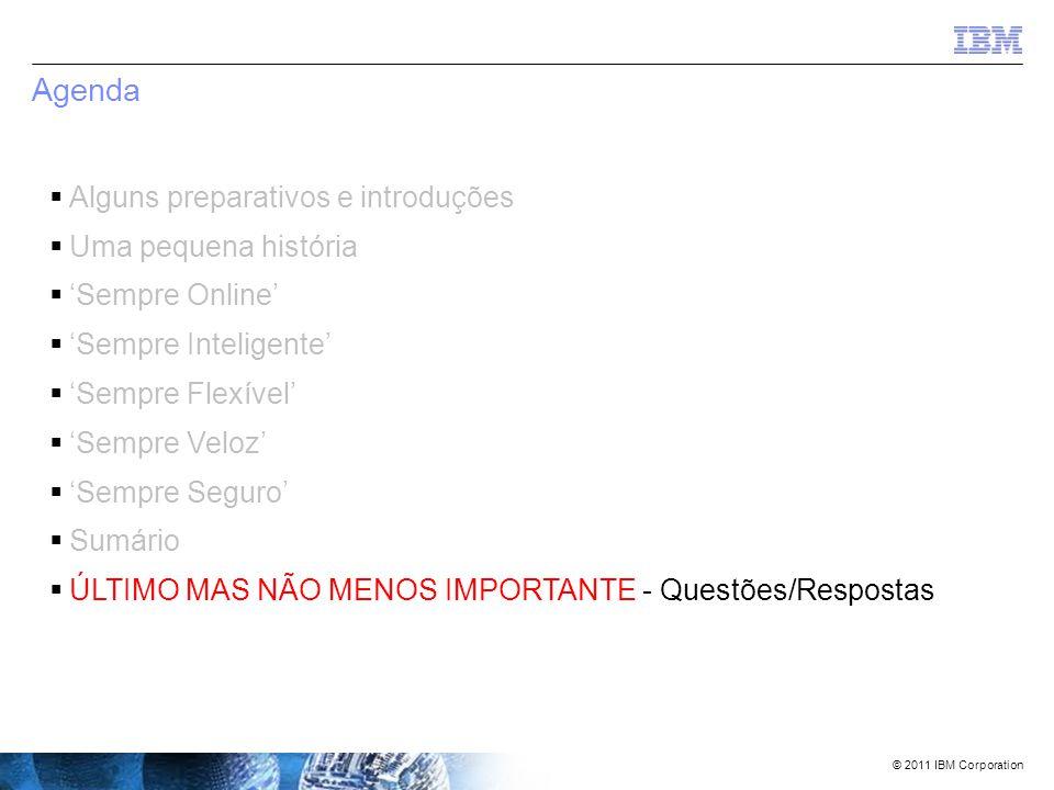 © 2011 IBM Corporation O que você deve fazer/tentar agora.