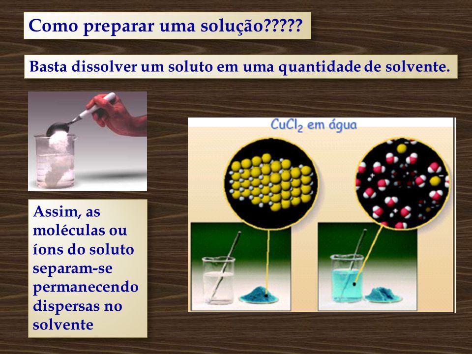 Como preparar uma solução????.
