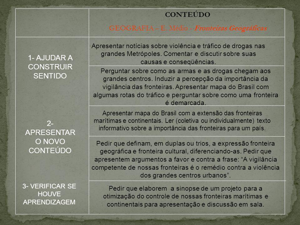 CONTEÚDO GEOGRAFIA – E.
